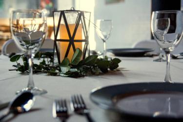 A Wedding table closeup