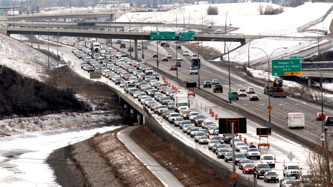 Deerfoot Trail in Calgary