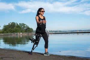 crutch, beach, orthotic, walk, stroll, iwalk