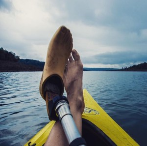 amputee kayaking, water, lake, kayak, watersports, recreation