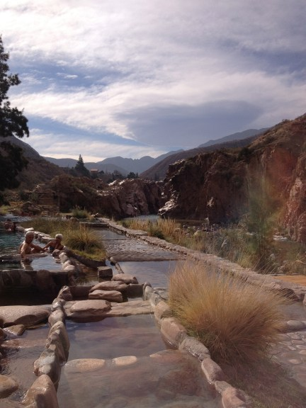 Mendoza hot springs on the edge of the Andes