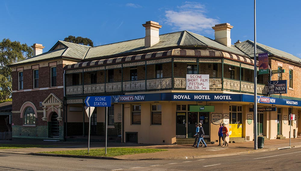 The Railway Hotel, now known and still operating as the Royal Hotel