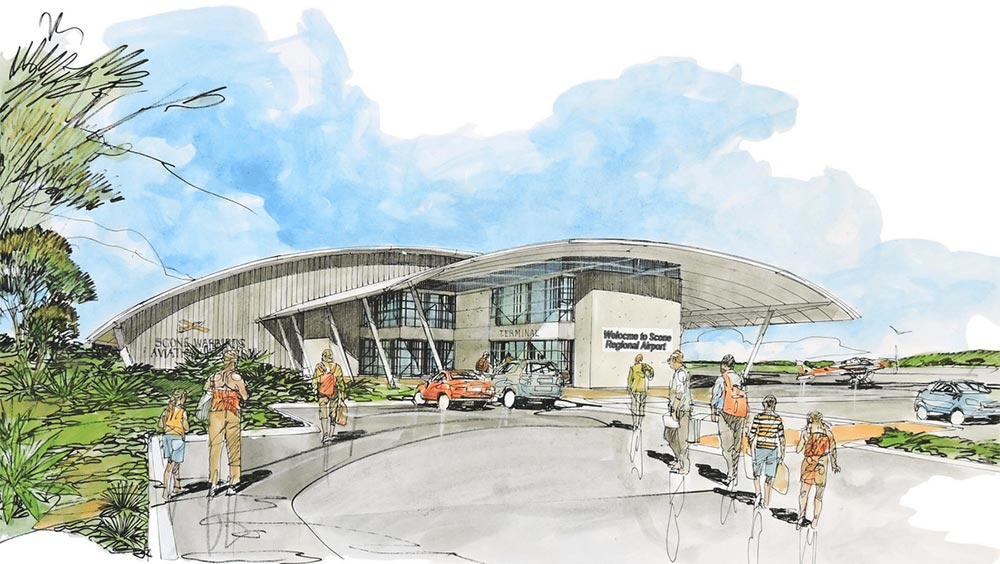 Artist impression of Scone Airport redevelopment
