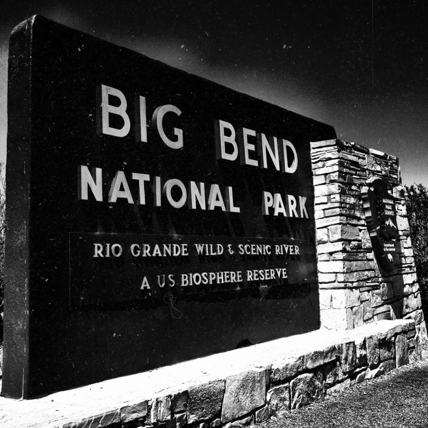 Big Bend National Park Sign