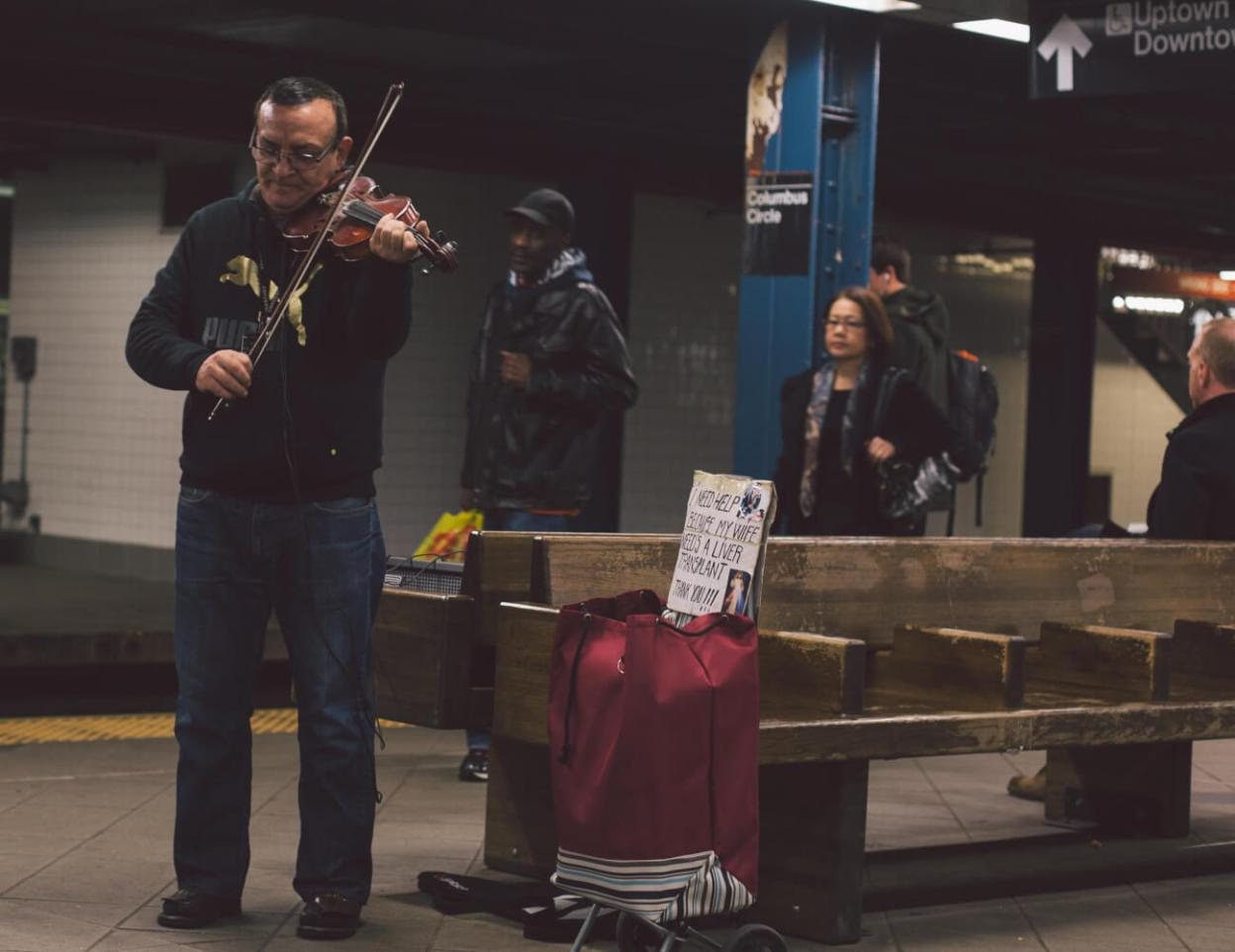 NYC Subway Violin Busking