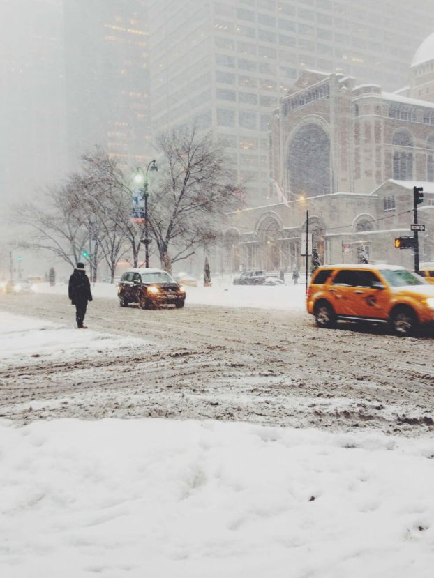 Snow Storm on Park Avenue NYC