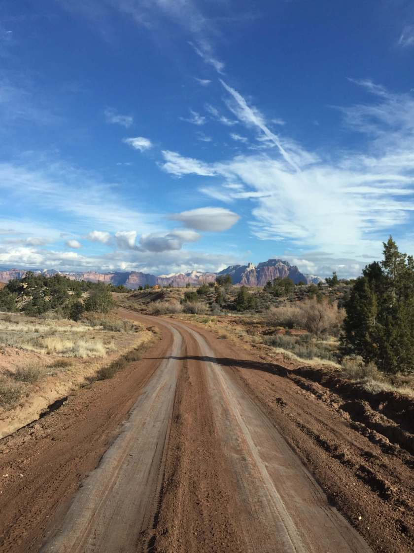 Driving to Zion, Utah