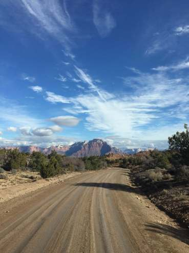Driving to Zion, Utah