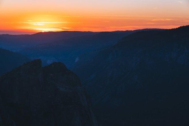 Taft Point Sunset Yosemite National Park