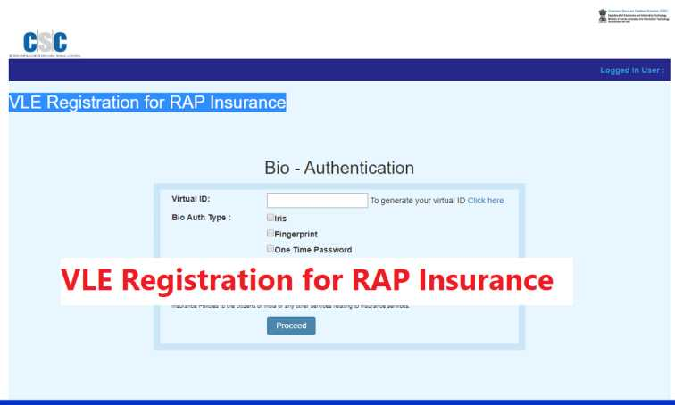 VLE Registration for RAP Insurance