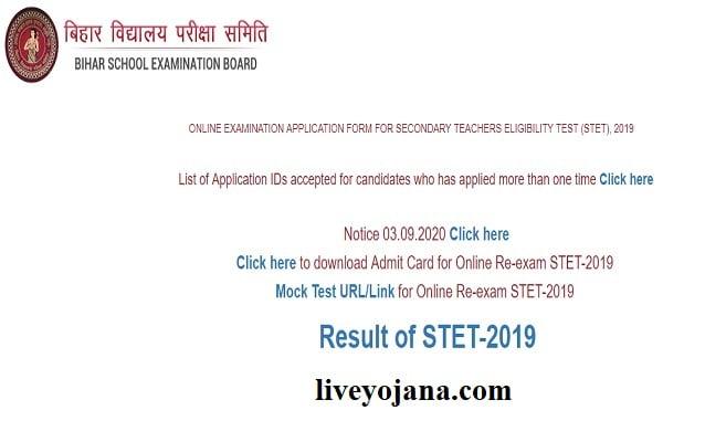 bihar stet result, Bihar STET result 2019
