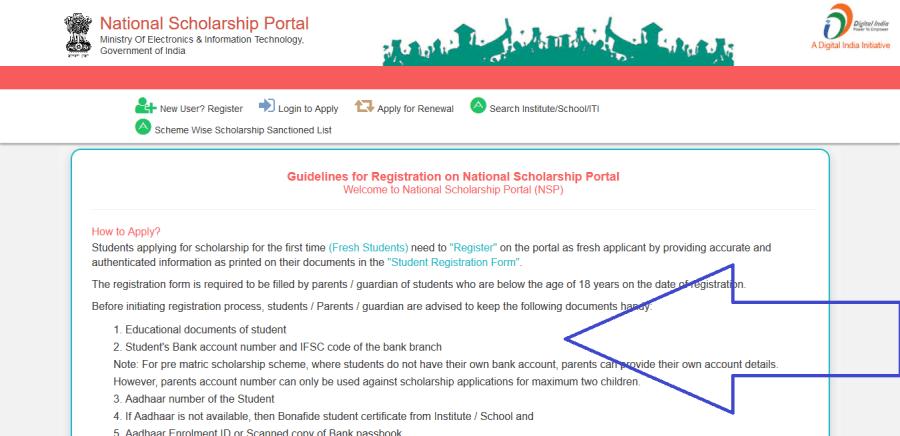 Guidelines-and-registration-riles-on-National-scholarship-Scheme, bihar scholarship 2021, nsp, shaladarpan