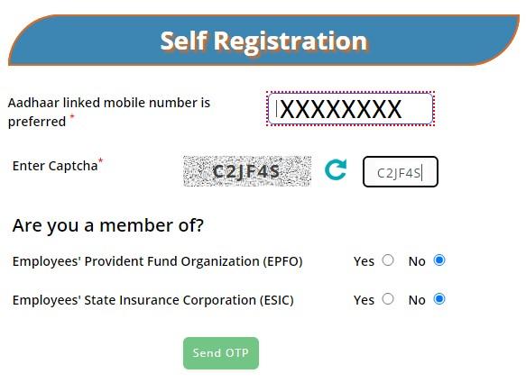 e shram Registration