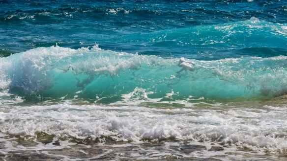 beach blue horizon motion