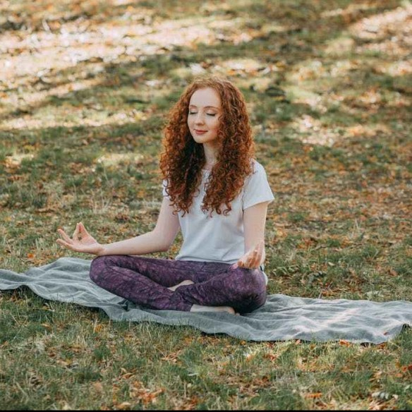 photo of woman meditating