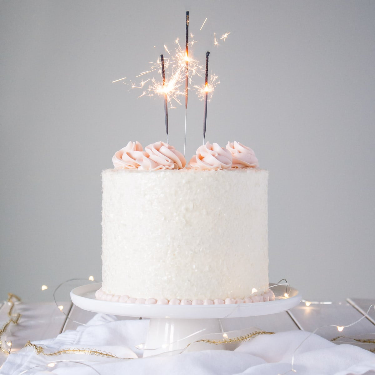 25th Birthday Cake With Sparklers