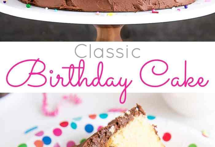 Classic Birthday Cake Liv For Cake