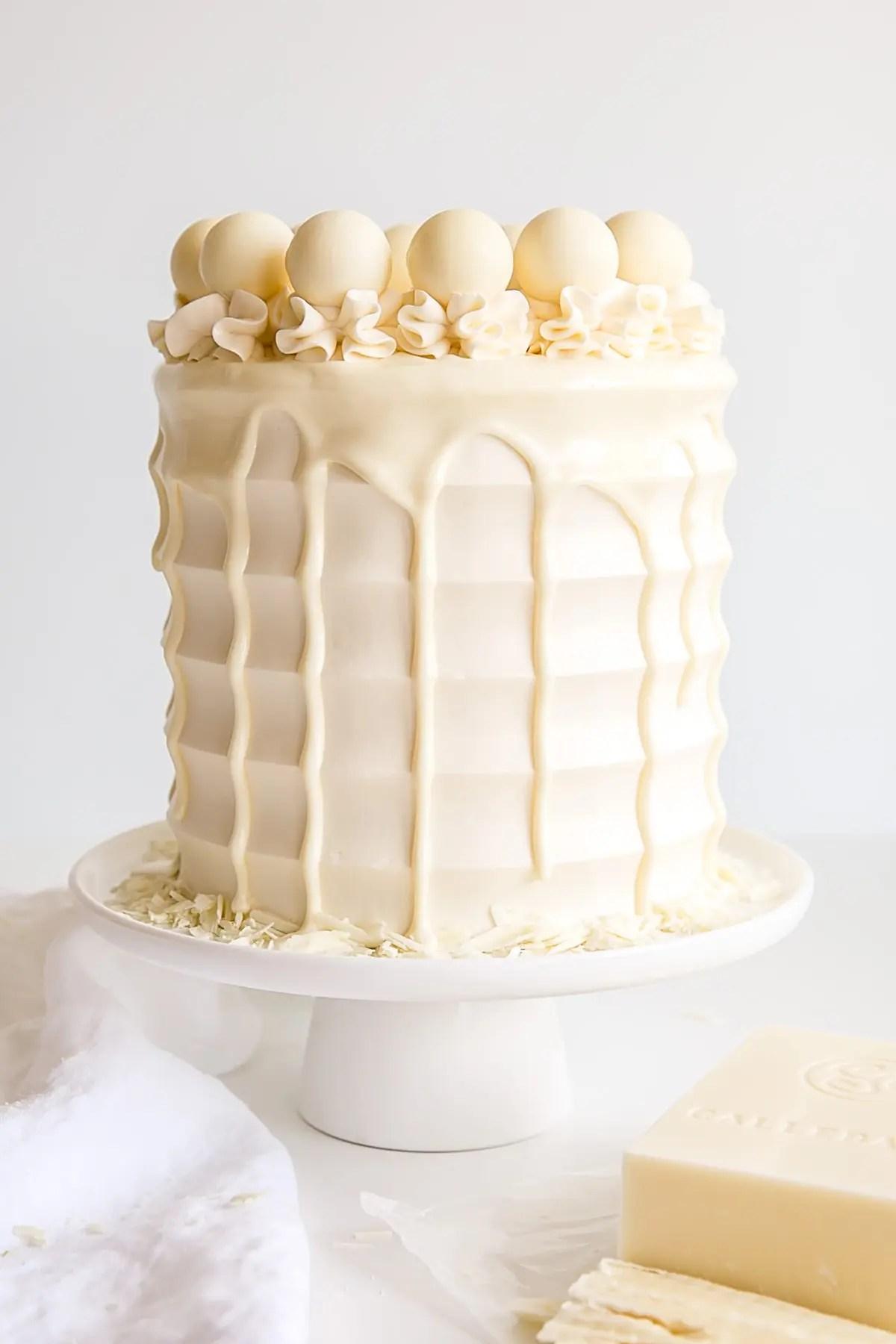 White Chocolate Cake Liv For Cake
