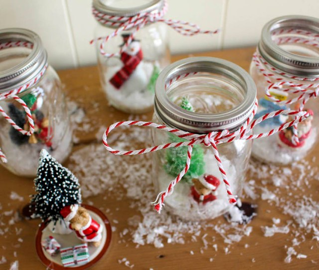 But It Will Be Our Secret That It Actually Took Only A Few Cheap Supplies And A Couple Minutes To Make These Christmas Wonderland Mason Jars