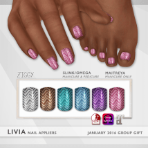 LIVIA Lavish Glitter Nails