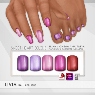 LIVIA Sweet Heart Solid Nails