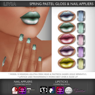 LIVIA Spring Pastel Gloss & Nails :: L$20 (50% off limited time)