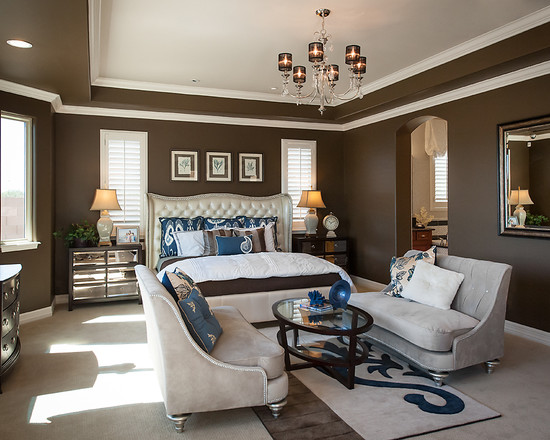 Brown And Blue Interior Color Schemes For An Earthy And