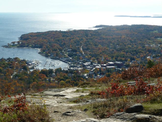View from Mount Battie down to Camden