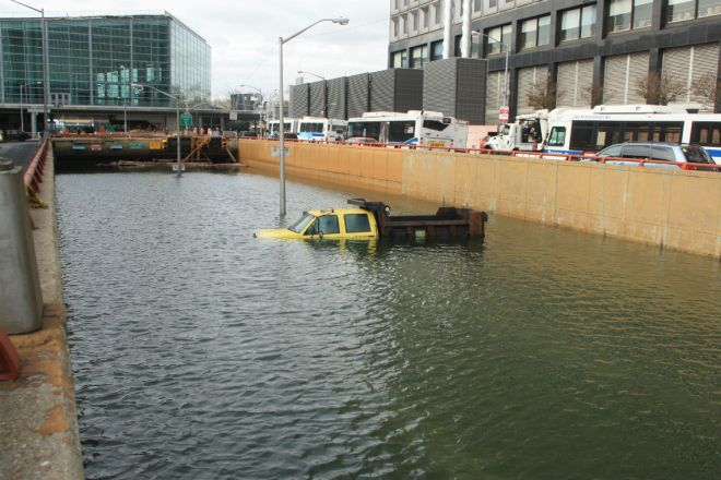 Flooded Holland Tunnel