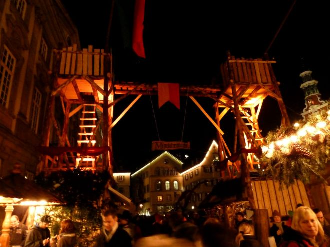 Entering the medieval Christmas Market