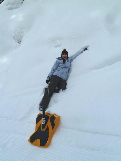 Nadi enjoying the snow