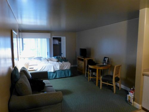 Our room at Palm Canyon Resort in Palm Springs