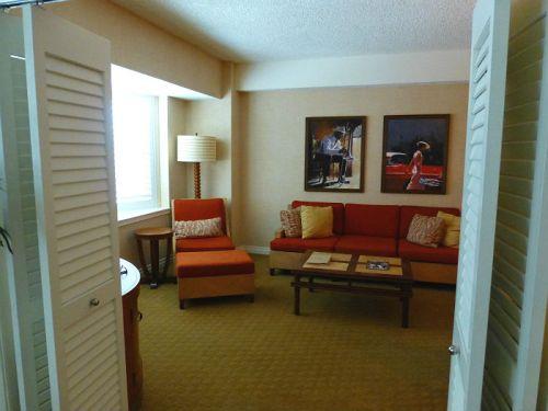 Tropicana suite, living room