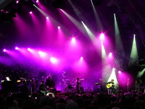 Lightshow at Jazz Open in Stuttgart