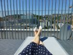 Enjoying my lunch break on the sundeck of City Library Stuttgart