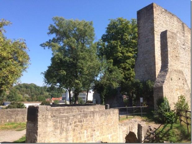 The last standing ruins of a castle in Stuttgart