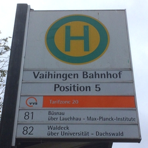 Bus sign in Stuttgart