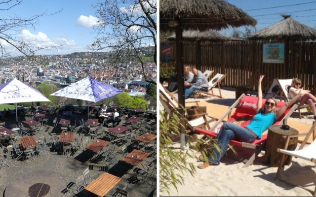 Visiting a beer garden is a great thing to do on a spring weekend in Stuttgart