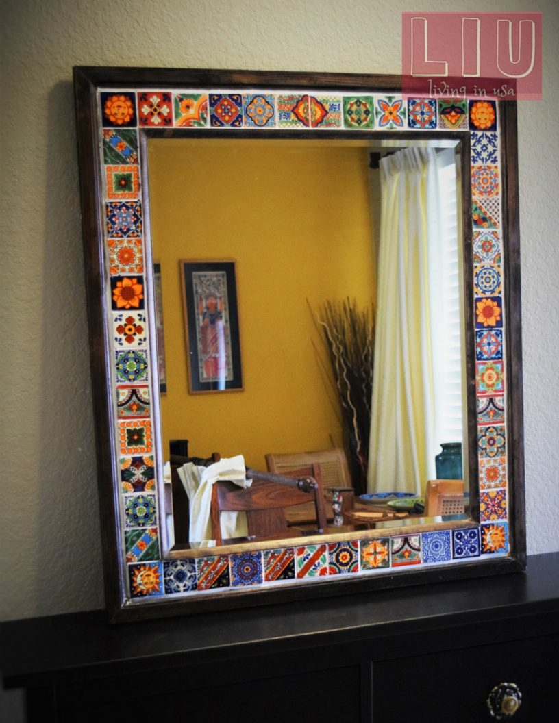 DIY Talavera Tile Mirror – Living-in-USA.COM