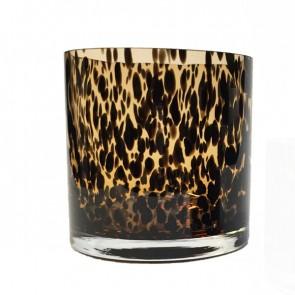 Waxinelichthouder luipaard zwartwit