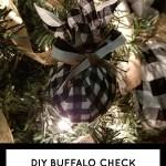Diy Buffalo Check Christmas Tree Ornament Living And Crafting
