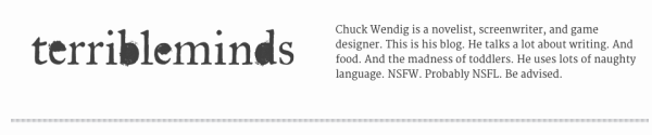 Chuck Wendig Terribleminds review