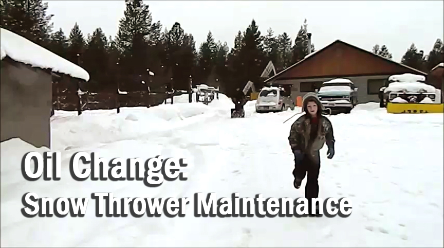 Spring is upon us / Oil Change: Snow Thrower Maintenance