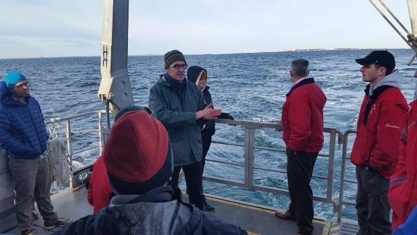 Professor Martin Wosnik speaking during the IEC Cruise