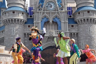 Mickey's Royal Friendship Faire Castle Show magic Kingdom Disney World