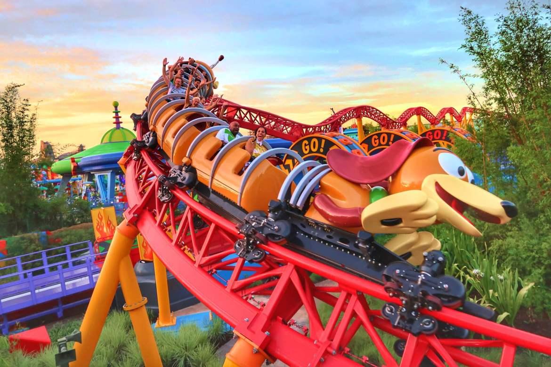 Toy Story Land Slinky Dog Dash ride