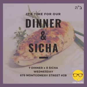 Dinner and Sicha @ Living Chassidus