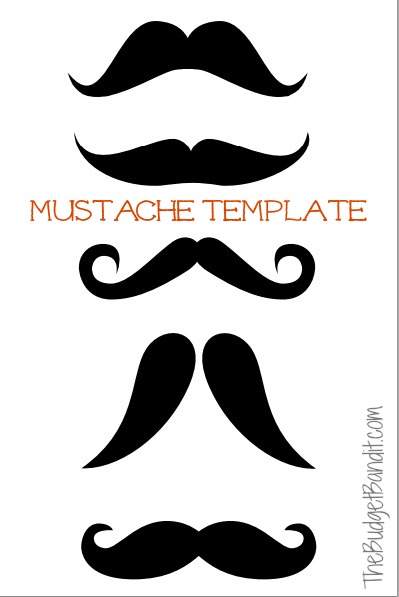 image about Printable Mustache Template named Printable Mustache Pumpkin Carving Template - Dwelling Stylish Mother