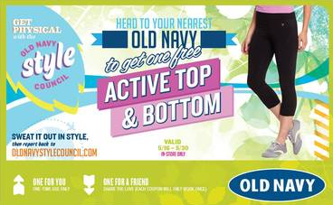 old navy active wear crowd tap