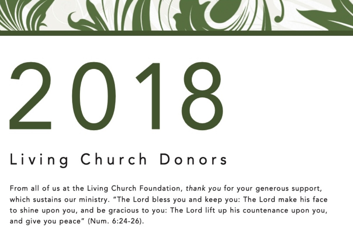 To Our Donors Thank You The Living Church